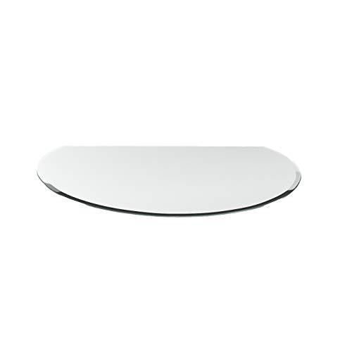 DURAFLAMM® - Kamin - Kreisabschnitt - Funkenschutzplatte Glasplatte G11 Funkenschutzplatte 6mm ESG Glas T: 950mm x B: 1200mm