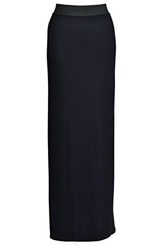 Dehnbares Zigeunerkleid in voller Länge, Größe 44-54, schwarz
