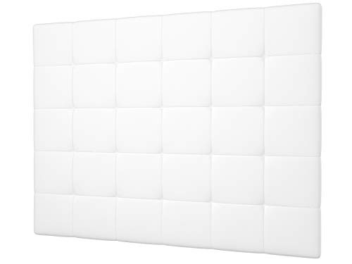 LA WEB DEL COLCHON - Cabecero tapizado Celio para Cama de 150 (160 x 120 cms) Blanco
