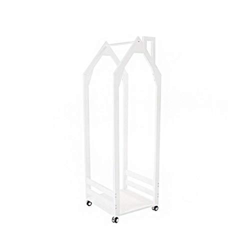 GAXQFEI Princess Dress Clothing Rack, Entrance Corridor Creativity Coat Racks Garment Rail Hanging Display Stand Rack W/Wheels 156 * 52 * 48Cm Hook up,White,156 * 52 * 48Cm