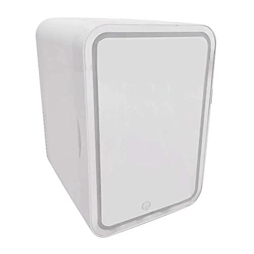 MagiDeal Mini refrigerador de Belleza de 8 litros, Enfriador y Calentador termoeléctrico portátil para el Cuidado de la Piel, Dormitorio, diseño LED,