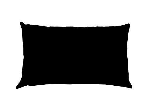 Lovely Casa Alicia T24820015 - Funda de Almohada (Medidas: 50 x 70 cm, algodón), Color Negro
