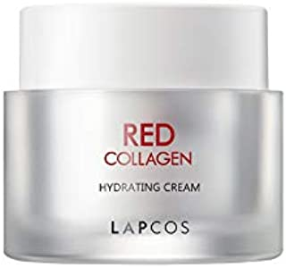 LAPCOS Red Collagen Hydrating Cream (1.69 Fl Oz) Anti Aging Moisturizer for Face and Neck, Plump and Nourish Skin with Niacinamide and Collagen, Treat Fine Lines & Wrinkles