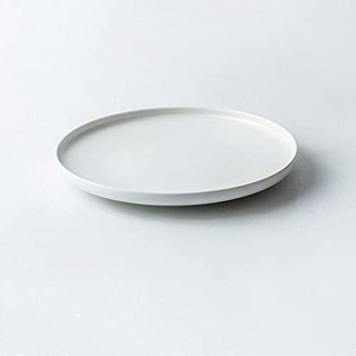 Juego de 3 platos de cena de porcelana azul para ensaladas, cereales y pastas, fiestas, cena de porcelana premium, refinar aspecto de China (blanco, 20,5 x 2,6 cm)