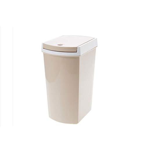 Xiaoli Cubo de Basura Bote de Basura en casa Sala de Estar Cocina Baño Bote de Basura Botón Interruptor Papeleras