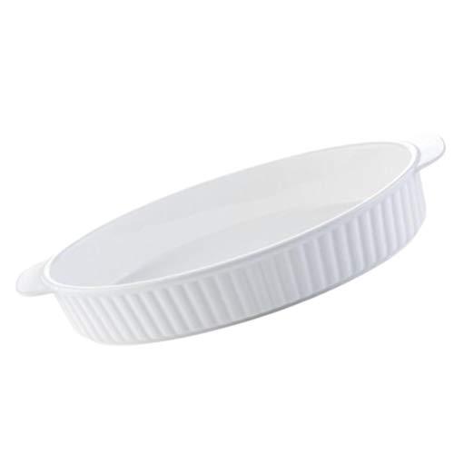 BESTonZON Keramik Auflaufform Porzellan Oval Auflauf Backform Temperiert Hitzebeständige Backbleche Antihaft-Tortenplatte Tortenform Backform für Die Küche zu Hause Grill Backofen Backen