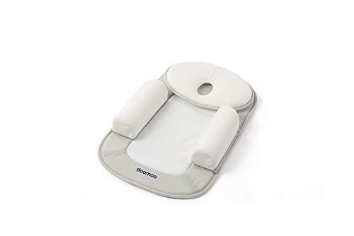 Doomoo Basics – Reductor cuna con pequeño cojín ergonómico anti cabeza plana Multi Sleep – Colchón morfológico para prevenir la plagiocefalia posicional en el bebé – Transpirable y ergonómico