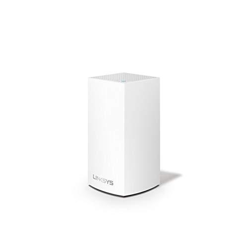 Linksys VLP0101 Velop grenzenloses Mesh-WLAN-System (AC1200 WLAN-Router/WLAN-Extender für eine nahtlose Funkabdeckung, Kinderschutzfunktionen, kompatibel mit Alexa, 1er-Pack, für bis zu 140 m², Weiß)
