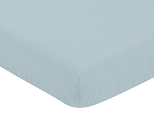 Sweet Jojo Designs Slate Blue Boy Fitted Crib Sheet Baby or Toddler Bed Nursery – for The Construction Truck Transportation Collection