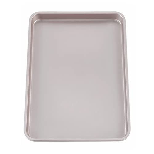 CHEFMADE 15-Inch Baking Sheet Pan, Non-Stick Carbon Steel Rimmed Cookie Sheet Pan for Oven Roasting Meat Bread Jelly Roll Battenberg Pizzas Pastries 10.6' x 15.6' x 1' (Champagne Gold)