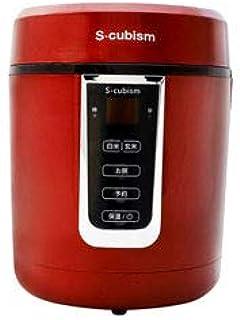 エスキュービズム 1.5合炊きマイコン式 炊飯器 レッド SCR-H15R