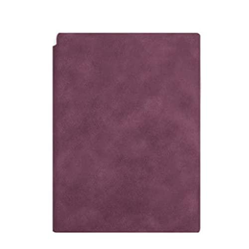 LWLEI Cuaderno, Journal, Journal A5 A5 Soft Cuero Business Reunión de Negocios Notepad Colegio Estudiantes Espesar Diario Simple Cuaderno Creativo (Color: Vino Rojo) Song (Color : Wine Red)