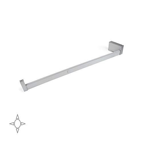 EMUCA - Iluminación para Armario o vestidor, Barra de Armario con luz LED Recargable y Detector de Movimiento, Aluminio anodizado Mate, L 558-708mm