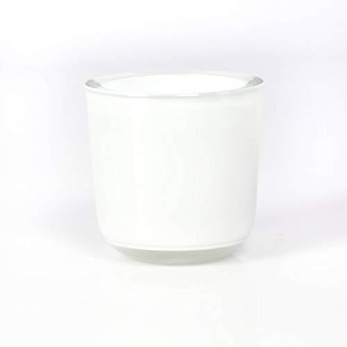 INNA-Glas Bougeoir - Photophore en Verre Nick, Blanc, 8cm, Ø 8cm - Photophore Rond - Verre à Bougie