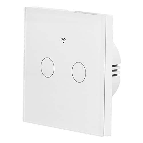 Yeelur Interruptor de Control Remoto, Temporizador sin Condensador para para Zigbee(Blanco, Transl)