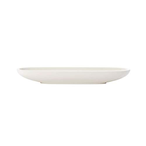 Villeroy und Boch - Artesano Original Olivenschale, ovale Schale für Anti-Pasti aus Premium Porzellan, spülmaschinengeeignet, weiß, 28 x 8 cm