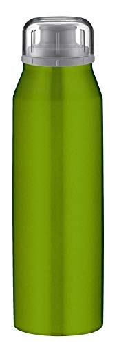 alfi isoBottle Isolier-Trinkflasche, Thermoflasche, Isolierflasche, Real Pure Grün, 0,5 Liter