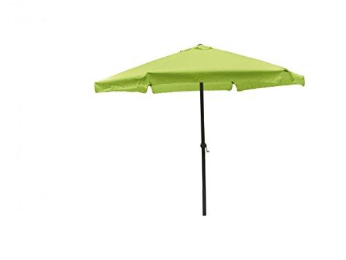 3 meter Sonnenschirm mit Kurbel limegrün