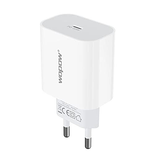 Kongqiabona-UK 20W WOPOW Adaptador de Cargador PD de Carga rápida para teléfono Adaptador de Corriente PD USB C Cargador Tipo C Puerto Cargador Cabeza