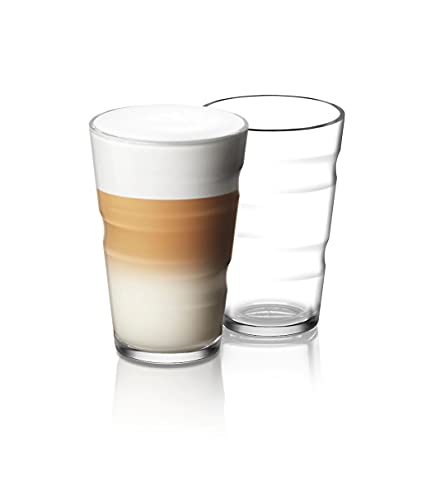 Nespresso View Collection 2er Set Rezeptgläser (Lungo, Latte) 350ml