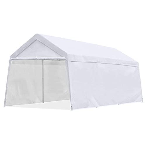 10'x20' Heavy Duty Carport Garage Outdoor Car Canopy White Portable Car Shelter