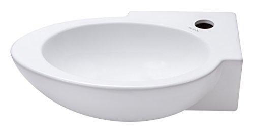 Elanti Collection EC1603-L ELANTI 1603-L - Fregadero de pared rectangular (porcelana), diseño ovalad