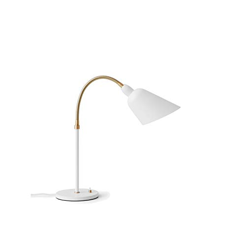 Lámpara de sobremesa 220/240V 50Hz de latón con cordón Textil de 2 Metros, Modelo Bellevue AJ8, Acabado Gris, Beige y latón, 42 x 17,5 x 42 centímetros (Referencia: 20811291)