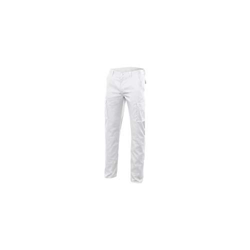 VELILLA Pantalon Stretch Multibolsillos Forrado Blanco 50