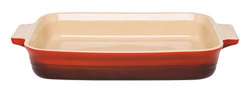 Le Creuset Rechteckige Auflaufform, 24 x 32 cm, Für 6 Portionen, Steinzeug, Kirschrot