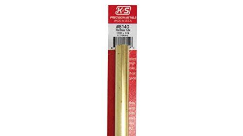 K & S Engineering #140 17/32x12 Round Brass Tube