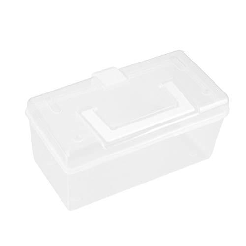 Hemoton Plastic Lege EHBO Doos Medicijnkoffer Met Handvat en Vakken Familie Noodpakket Wit Maat S