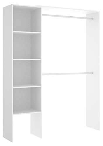 Miroytengo Vestidor Armario ropero habitación Juvenil Infantil Blanco Suit Dormitorio Moderno Mueble 140x40x187 cm