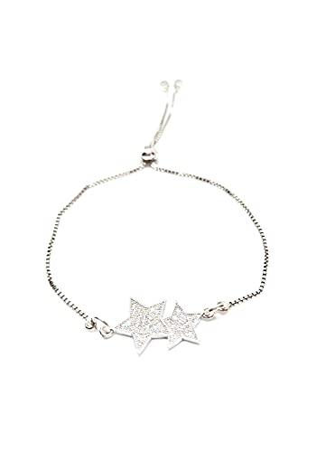 Pulsera Ajustable con Estrellas, Elegante, Moderna, Regalos para Ella, Regalo Mujer