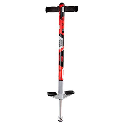 Think Gizmos Bastone Pogo Stick per Bambini - Bastone Pogo Aero Advantage – per Bambini dai 5 ai 10 Anni di età, e Fino ai kg 36 di Peso – (Rosso e Nero)