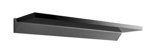 Pekodome Java Exclusiv 56062 Fachboden-Set Hochglanz Regalboden inklusive Alu-Wandschiene 60 x 18 x 1.9 cm, schwarz-Hochglanz