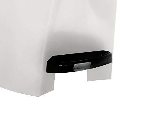 Professional Grade Sanitary Bin – White – Large 20 Litre Capacity – Pedal Operated