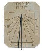 CATART Reloj de Sol en hormigón-Piedra para Pared Exterior Tempus Fugit de 39X50cm. | Reloj de Sol Jardín Vertical de hormigón-Piedra Artificial, Color Marrón