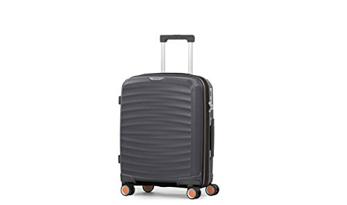 Rock Sunwave 54cm Carry On Expandable Hard Shell Suitcase Charcoal