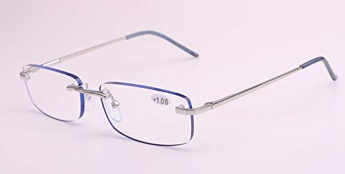 Atlantic AE0066 Gafas de Lectura Sin Montura con Azul para Hombre y Mujer con Funda (+2.50)