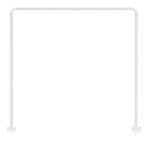 Kela 20994, Duschstange für Duschvorhang, U-Form, Aluminium, Ø 2,5 cm, L 90 x B 90 x H 90 cm, Cant, Weiß
