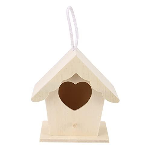 SCDCWW Nest House House House Box Box Hecho A Mano Caja de Madera Jaula Pájaro Al Aire Libre Jardín Patio Colgando Productos para Mascotas Artesanía