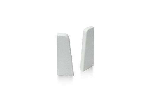 KGM Endstücke für Sockelleiste MEGA-Profil (20 x 58 mm) weiß – Maße: 20 x 58 mm – 2 Stück