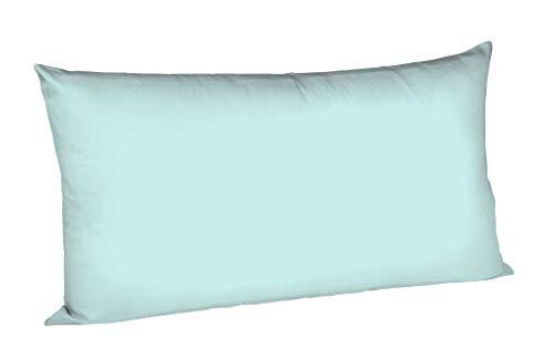 Fleuresse Colours Kissenbezug, Mako Satin, Eisblau, 40 x 80 cm
