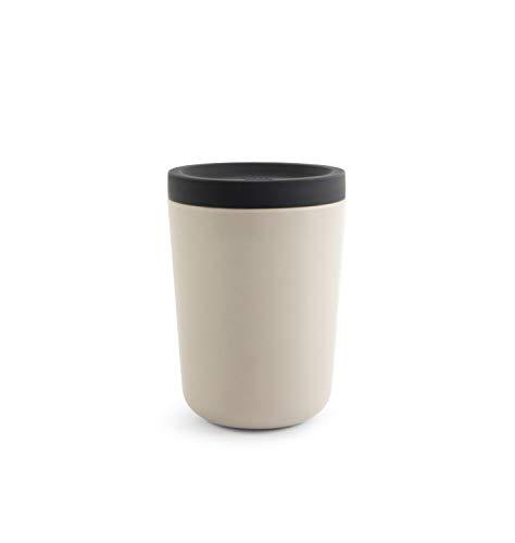 EKOBO Nomad Kaffeebecher to Go, Stone, 350 ml, Wiederverwendbar, Bambus & Kunstharz, Lebensmittelecht, Schadstofffrei, Spülmaschinenfest, Coffee to Go Becher, Teebecher (Stone)