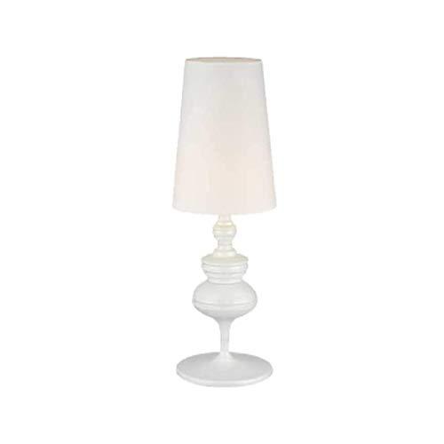 NXYJD Simple Post Moderna lámpara de Mesa, dormitorios casa Club de la decoración de la lámpara de cabecera de Mesa iluminación del Hotel (Color : White)