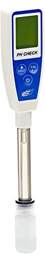 TFA Dostmann Check pH Messgerät mit ATC Wasserqualitätskontrolle, 31.3001.06, HOLD-Funktion, ph-Wert und Temperatur, inkl Behälter mit Aufbewahrläsung für Elektrode