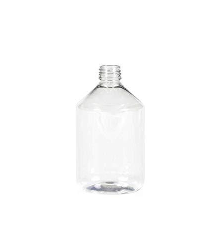 Flacon PET cristal 250 ml + bouchon alu