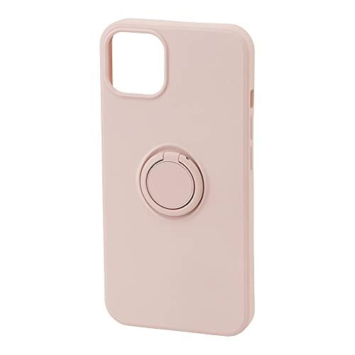 ラスタバナナ iPhone13 mini 専用 ケース カバー ソフトケース TPU スマホリング付き 落下防止 スタンド ストラップホール ライトピンク アイフォン13 ミニ スマホケース 6358IP154TP