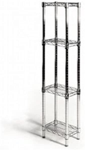 8 D X 12 W X 54 H Chrome Wire Shelving With 4 Shelves