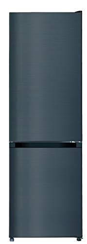 CHiQ Freistehender Kühlschrank mit Gefrierfach   Kühl-Gefrierkombination Low-frost Technologie   12 Jahre Garantie auf den Kompressor*, Dunkler Edelstahl Look (260L Low Frost)